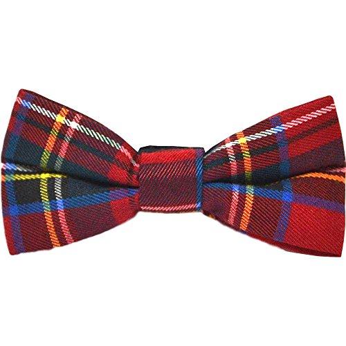 Traditional Red Tartan Check Bow Tie, Plaid, Stewart Tartan, Scotland, Highland (Tartan Tie Stewart)