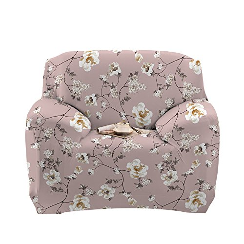 Stretch Arm Chair Cover - Sofa Covers Slipcover Sofa - 1-Piece 1 2 3 4 Seater Furniture Protector Polyester Spandex Fabric Armchair Slipcover With a Pillow Cover for Children and Pets Begonia flowers - Slipcovered Sofa Set