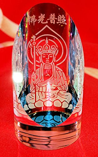 Half Cylinder Engraved Crystal - Different Styles to Choose By Your Own (Quan Yin 3)