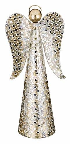 "Regal Art & Gift Mosaic Angel Decor, 20"", Champagne"