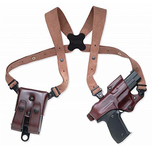 Galco Jackass Rig Shoulder System for Glock 17, 22, 31 (Havana, (Rig Shoulder Holster)