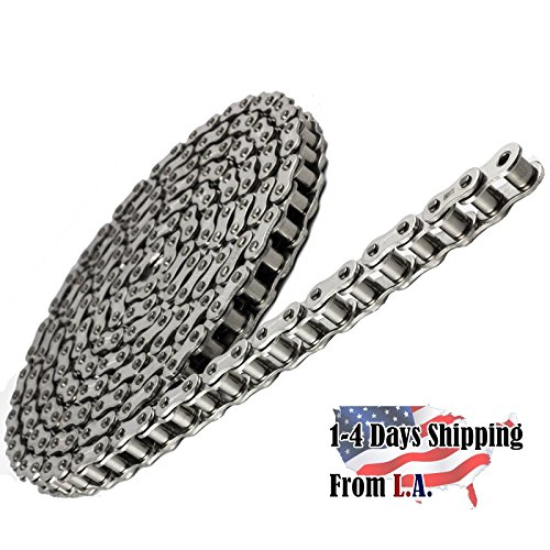 40 SS Stainless Steel Roller Chain 5 Feet with 1 Connecting - 40ss Stainless Steel