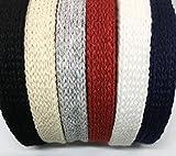 "Anrox Supply Co. 3/8"" Cotton Flat Draw Cord Drawstrings Handles Lace Trim String (10 Yards, Black)"