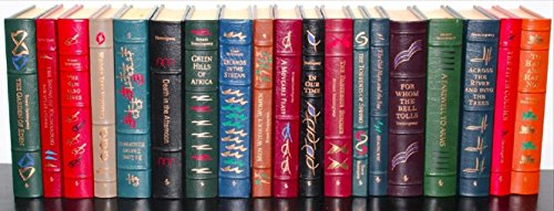 The Complete Works of Ernest Hemingway Easton Press collectors edition complete in 19 volumes (Ernest Hemingway A Clean Well Lighted Place)