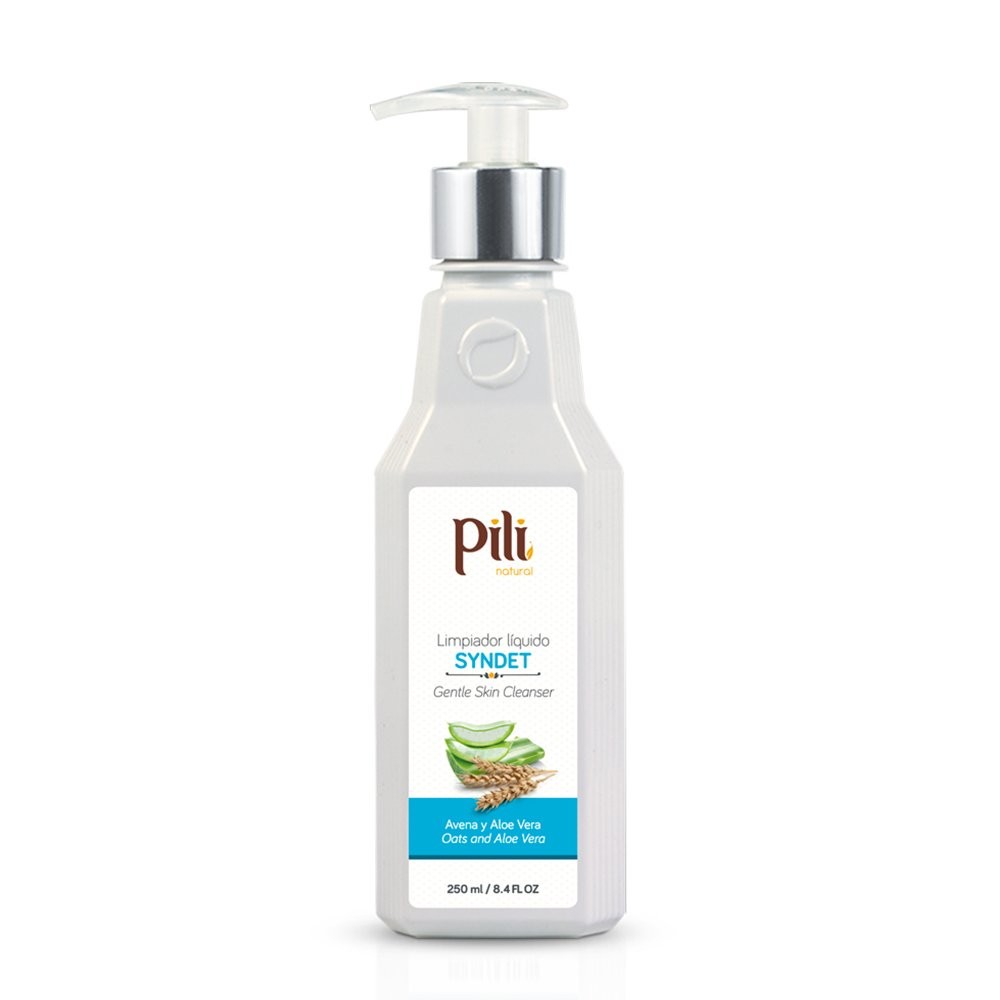 Pili Natural Syndet - Gentle Skin Cleanser with Oatmeal and Aloe Vera - Hypoallergenic cleanser for sensitive skin - Syndet