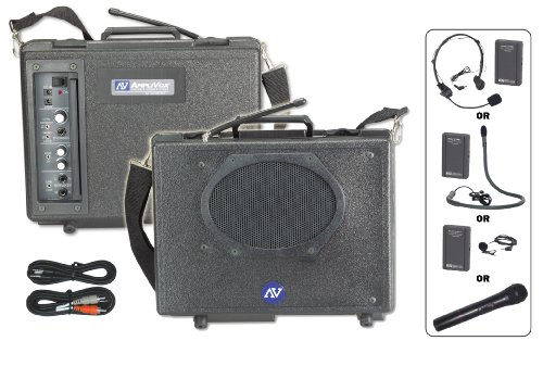 - Amplivox SW222 Wireless Portable Buddy Public Address System, Black