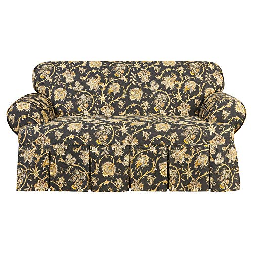 SureFit Tennyson 1-Piece - Loveseat Slipcover - Onyx