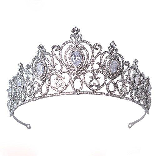 FF Wedding Crown for Brides Crystal Bridal Tiara