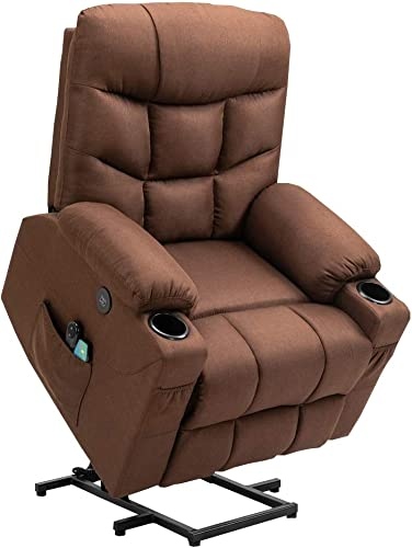 Cheap Homegear Fabric Power Lift Electric Recliner Chair w/Massage and Vibration living room chair for sale