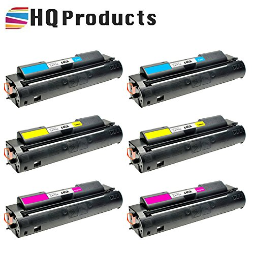 HQ Products Remanufactured Replacement HP 640A 6Pk Set (2xC4192A, 2xC4194A, 2xC4193A) C, Y, M Toner Cartridges for HP Color LaserJet 4500, 4500DN, 4500HDN, 4500N, 4550 Series -