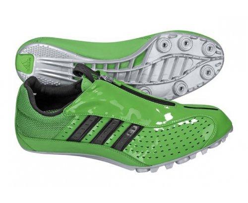 Adidas Powersprint 2Erwachsene Track-Spikes, Grün/Schwarz, UK9.5