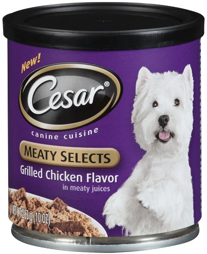 Cesar Meaty Selects Grilled Chicken Flavor in Meaty Juices, 10-Ounce, 12-Pack, My Pet Supplies