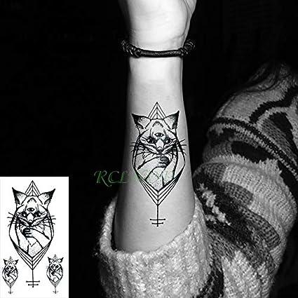 5pcs Tatuaje Impermeable Etiqueta Planet Animales Gato Tatto la ...