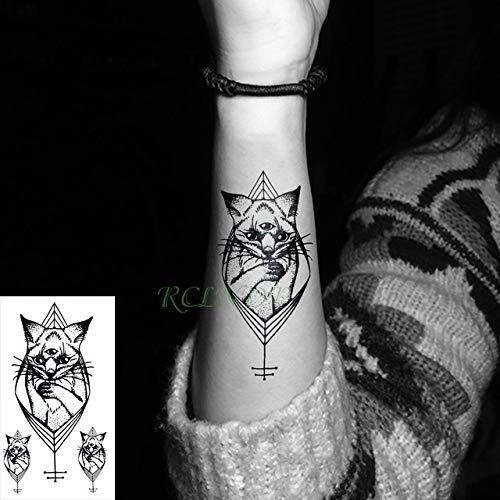 5pcs Tatuaje Impermeable Etiqueta Planeta Luna del Gato Tatto la ...