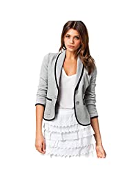 Women Blazer Formal Business Office Work Coat Suit Long Sleeve Slim Jacket Outwear