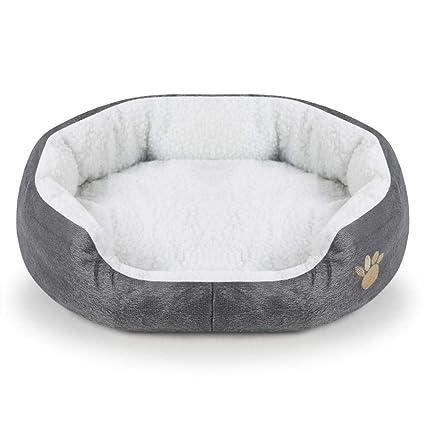 CHYLYM Cama para Perros súper Suave Lavable cómodo Cama para ...