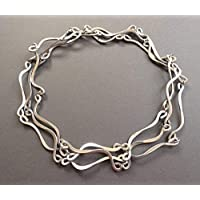 womens lightweight silver tone Beads by Bettina metal 52 inch single double or triple wrap necklace