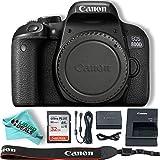 Canon EOS Rebel T7i / 800D Body SLR Digital Camera Value Bundle, 32GB Memory Card,Liquid Deals Microfiber Cloth