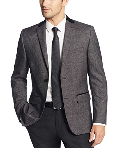 Alfani Men's Velvet Top Collar Slim-Fit Sport Coat Evening Jacket (40 Long, Black) Alfani Jacket