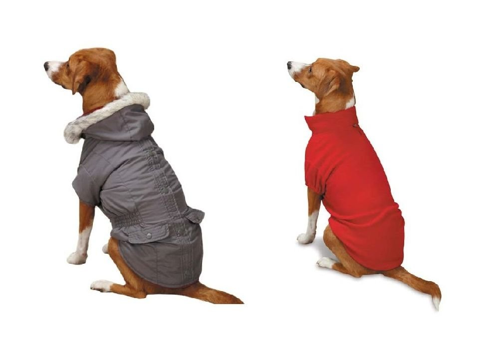 Eskimo Dog Jackets 3 In 1 Layered Water Resistant Fleece Lining In Brown Or Grey