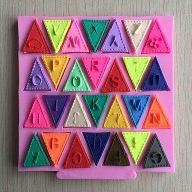 Want letras del alfabeto banderines con forma de Fondant Cake silicona para