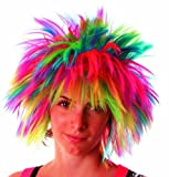 Party Pro 865525 Wig Crazy Fluo, Unisex Children, Mulit Colour, One Size