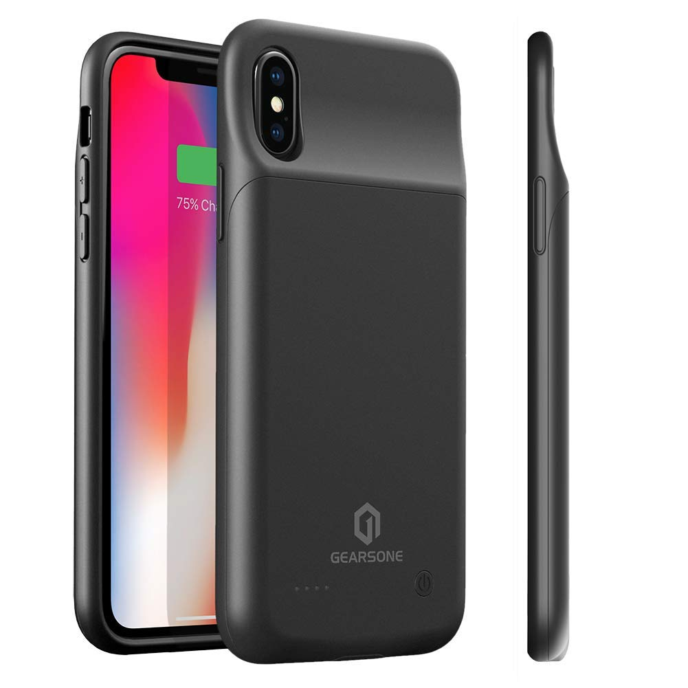 GEARSONE Battery Case for iPhone 8 7 6s 6, 3000mAh Ultra-Thin Rechargeable Portable Protective Charging Case Extended Charger Case Backup Compatible with iPhone 8 7 6s 6