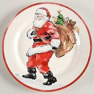 Amazon Com Pottery Barn Christmas Santa Dinner Plate