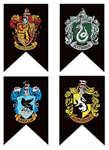 Harri Potter Banners Gryffindor Slytherin Hufflerpuff Ravenclaw College Flag Party Supplies Home Decoration Boys Girls Kids Gift Action & Toy Figures