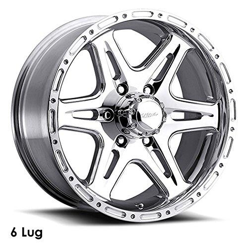 Ultra Wheel 208P Badlands Silver Wheel with Polished Finish  (16x8