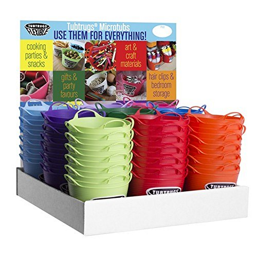 Red Gorilla Tubtrug Flexible Micro (Pack of 108) (Mini) (Assorted) by Red Gorilla