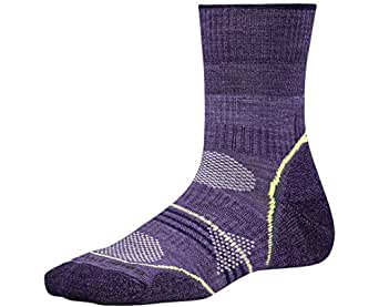 Women's PhD Outdoor Light Mid Crew Socks (Desert Purple) Small