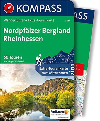 Nordpfälzer Bergland, Rheinhessen: Wanderführer mit Extra-Tourenkarte 1:75.000, 50 Touren, GPX-Daten zum Download. (KOMPASS-Wanderführer, Band 5225)