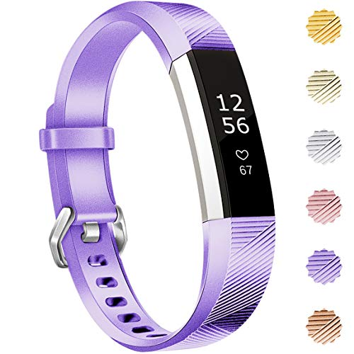 Maledan Compatible with Fitbit Alta Bands, Replacement Band for Fitbit Alta HR/Alta/Ace, Small, Lavender
