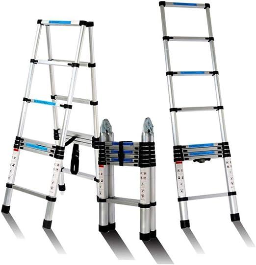 ALYR Aluminio Escalera Telescópica, Multiusos Escalera Extensible ...