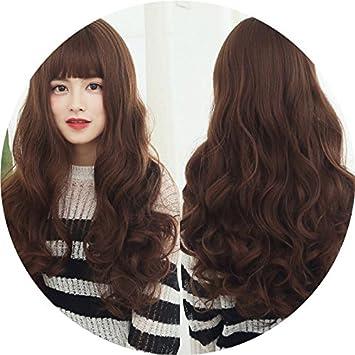 Amazon Com Korean Women Girls Female Fluffy Wig Long Hair