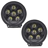 Athiry 2pc 18W 3.5' Round led work lights Off-road Driving Pod Spotlight Fog lights for Jeep 4x4 SUV ATV Boats Cars Trucks