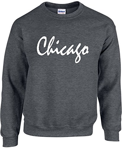 Adult Unisex Crewneck Size S (CHICAGO) Novelty - Christmas Chicago Shopping