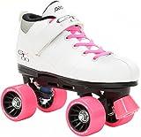 Pacer Mach-5 White Pink Skates - Mach5 GTX500