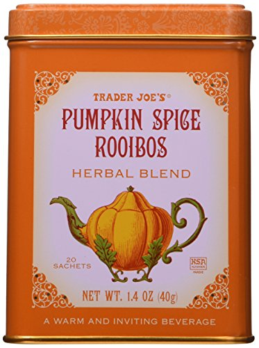 Trader Joe's Pumpkin Spice Rooibos Herbal Blend Beverage 20 sachets