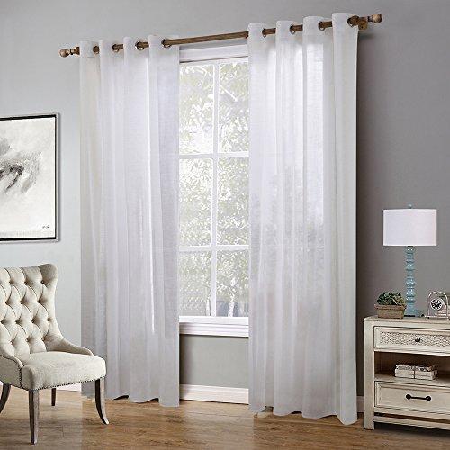 (Bebling Curtain Panels / Rich Sheer Curtains for Bedroom - 2 Panels - Elegant Grommet Top, Each Panel Measures 55