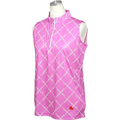 フィッチェゴルフ FICCE GOLF 半袖シャツ?ポロシャツ ノースリーブシャツ レディス ピンク S
