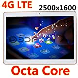 9.7 inch 4G LET Tablet 2500X1600 IPS Octa Core RAM 4GB ROM 64GB 8.0MP 3G MTK6592 Dual sim card Phone Call Tablets PC Android 5.1 GPS electronics(Gold)