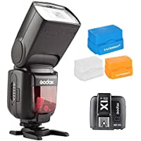 Godox TT600S Thinklite Camera Flash Built-In 2.4G Wireless X System with Master and Slave wireless System for Sony Multi Interface MI Shoe Cameras + X1TS Transmitter + 3PCS EACHSHOT Diffusers