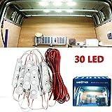 AMBOTHER 30 LED Car Interior Lights Kit LED Project Lens 12v (White) PWIXOGKK29