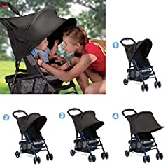 """About the product:   Gender:Unisex  Name: Upgraded Baby Stroller Anti-UV Canopy  Material: UPF50 + elastic & sunshade lycra fabric  Size: about 95CMx75CM/37.4""""x29.5""""  Function: Effectively filter the ultraviolet rays  Water-repellent fabr..."""
