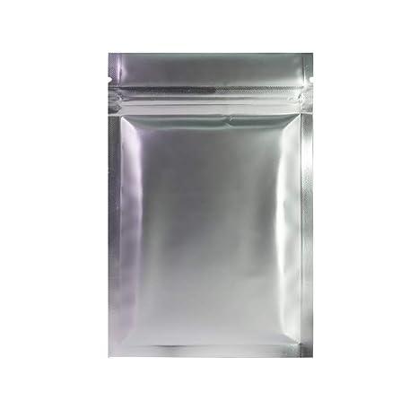 50 bolsas Fresherpack Ltd plateadas mate con cierre de ...
