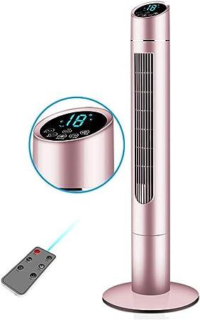Opinión sobre FHDF Silencioso Ventilador De Torre con Mando a Distancia Portátil Oscilante Tower Fan3 Velocidades 3 Viento para El Hogar Y La Oficina Temporizadorr (Golden 105CM)