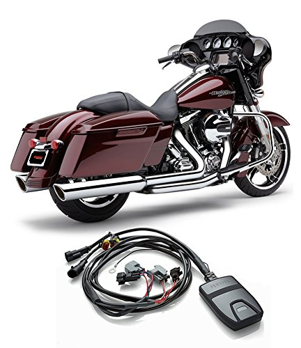 Cobra Power Port Exhaust Header & xxxx Mufflers + Fi2000 PowrPro Black - HD FL Tour Models - 2014-2016