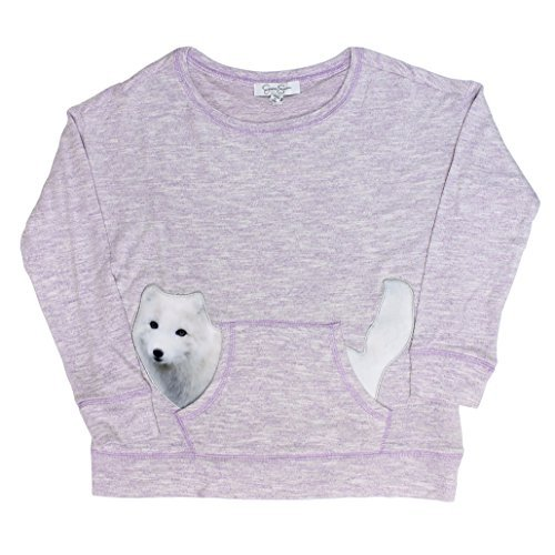 Jessica Simpson Girl's Arctic Long Sleeve pullover (L(14-16), H.regal Orchid Arctic Fox) ()